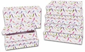 Dárková krabice Lux - set C - obdélník, 7 ks - 501097