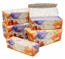 Dárková krabice s magnetickým uzávěrem - set 5 ks - Jardins De Paris - Argus - 2500-8277