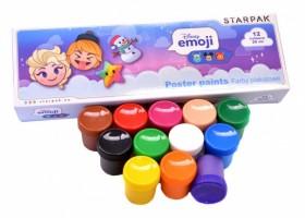 Plakátové barvy Emoji - 12 barev / 20ml  397924