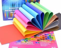 Skicák A4/15 listů, 200 g - barevné listy - Premium