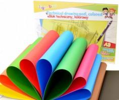 Blok lepený s barevnými papíry, A3, 150 g/m?, 10 listů, mix barev - U7540BTS17