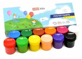Plakátové barvy v kelímku - 12 barev - S830648