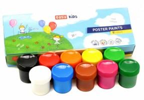 Plakátové barvy v kelímku - 10 barev - S830645