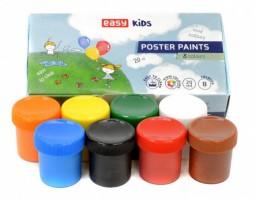 Plakátové barvy v kelímku - 8 barev - S830642