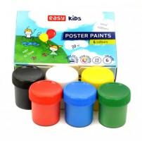 Plakátové barvy v kelímku - 6 barev - S830639