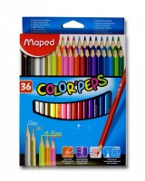 Pastelky Maped trojboké Color´Peps 36ks