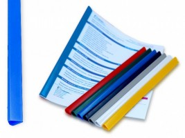 Rychlovazná lišta z umělé hmoty pro neděrované spisy, na 30 listů světle modrá