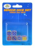 Hrací kostky -  barevné - 18 ks - 1,5 cm - PK37-12