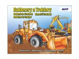Omalovánky A4 - Buldozery a traktory - 5300949