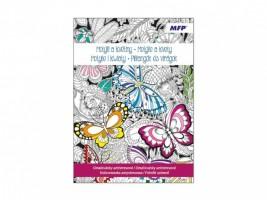 Antistresové omalovánky - Motýli a květiny - 5300971