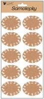 Samolepky popisovací - korkové - 28 x 14 cm - 1317