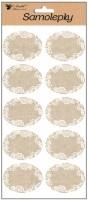 Samolepky popisovací - textilní (burlap) - 28 x 14 cm - 1318
