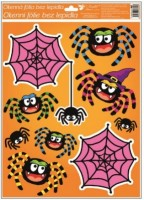 Okenní fólie s glitrem - Halloween - různé motivy - 967