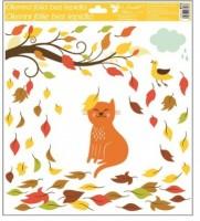 Okenní fólie - Podzimní zvířata - různé motivy - 973