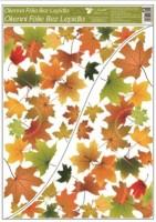 Okenní fólie - rohová - Podzimní listí - různé motivy - 976