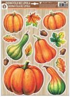 Okenní fólie s glitry - Podzim - různé motivy - 976