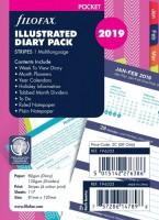 Diářový set Filofax - 2019 - kapesní - pruhy - 632319