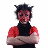 c7d0248b7 Latexová maska čerta s hnědými rohy - 97571 | Vaše online papírnictví