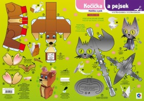 Vystřihovánka Kočička a Pejsek BV044