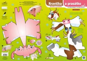 Vystřihovánka Kravička a prasátko BV041