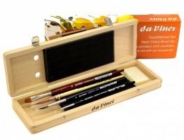 Sada štětců Da Vinci na akvarel ve dřevěné krabičce 5279
