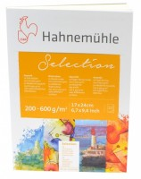 Blok Hahnemühle Aquarell Selection 12- Kartony na akvarel 17 x 24 cm - 12 listů 10628000