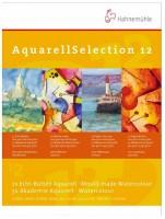 Blok Hahnemühle Aquarell Selection 12 - Kartony na akvarel 24 x32 cm - 12 listů 10628001