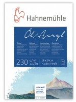 Blok na akryl a olej Hahnemühle - 10 listů, 18 x 24 cm, 230g/m2 10628831