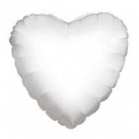 Nafukovací balónek - srdce - 18 - bílý, 46 cm - K34102-18S