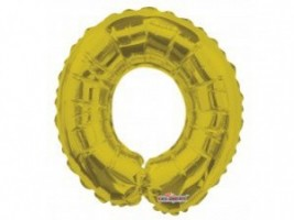 Nafukovací balónek - písmeno - O - zlatý, 35 cm - K35083-14S