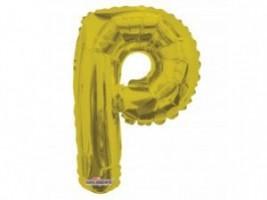 Nafukovací balónek - písmeno - P - zlatý, 35 cm - K35084-14S