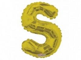 Nafukovací balónek - písmeno - S - zlatý, 35 cm - K35087-14S