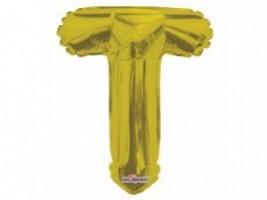 Nafukovací balónek - písmeno - T - zlatý, 35 cm - K35088-14S