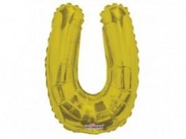 Nafukovací balónek - písmeno - U - zlatý, 35 cm - K35089-14S
