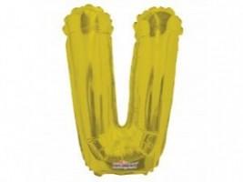 Nafukovací balónek - písmeno - V - zlatý, 35 cm - K35090-14S