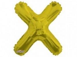 Nafukovací balónek - písmeno - X - zlatý, 35 cm - K35092-14S