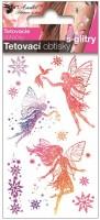 Tetovací obtisky s glitry Tři víly 10,5 x 6 cm  16003