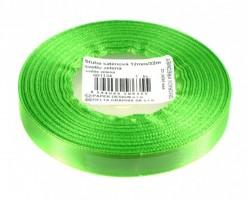 Stuha saténová 12 mm/32m - sv. zelená - 601134