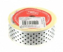 Stuha saténová 25 mm/20m - bílá s puntíkem - 602901