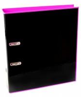 Pořadač A4 lamino pákový 7 cm - Reverse Black Line - růžový - 7-241