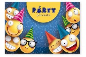 Party pozvánky 6 ks - Smajlíci - 1141124