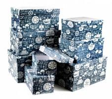 Dárková krabice - set L - obdélník, 8 ks - 530689