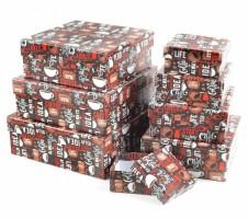 Dárková krabice - Lux set A - čtverec, 8 ks - 501201