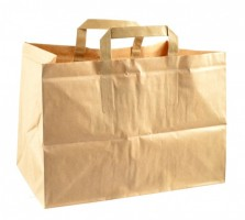 Papírová taška hnědá 23 x 22 x 32 cm
