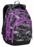Studentský batoh Bagmaster - Energy 9 A - Violet/Gray/Black