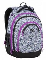 Studentský batoh Bagmaster - Energy 9 B - Violet/White/Blue