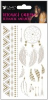 Tetovací obtisky - zlaté a stříbrné 15 x 9 cm - 1132