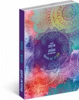 Školní diář - Mandala (září 2019 – prosinec 2020), 9,8 x 14,5 cm - PGD-6954