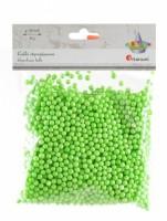 Kuličky z polystyrenu - zelené - 4-6 mm - 8 g - 624085