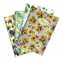 Kroužkový blok Pigna Nature Flowers, A4 linkovaný, 60 listů